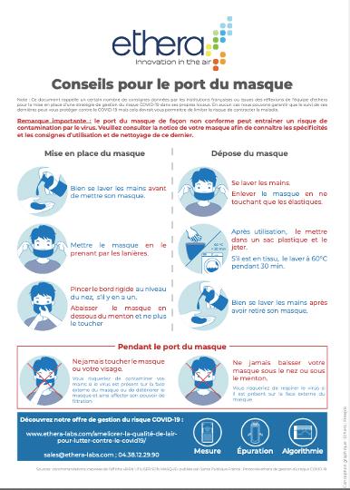 Conseils pour le port du masque