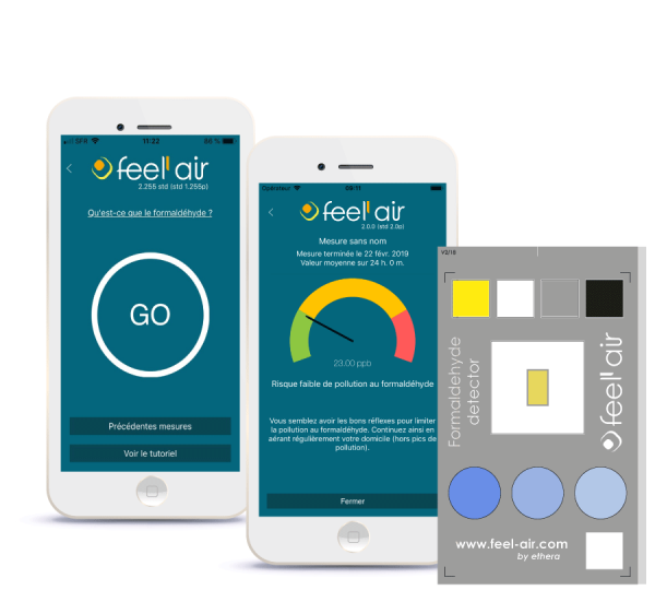 Feel'air application pour tester la qualité de l'air intérieur